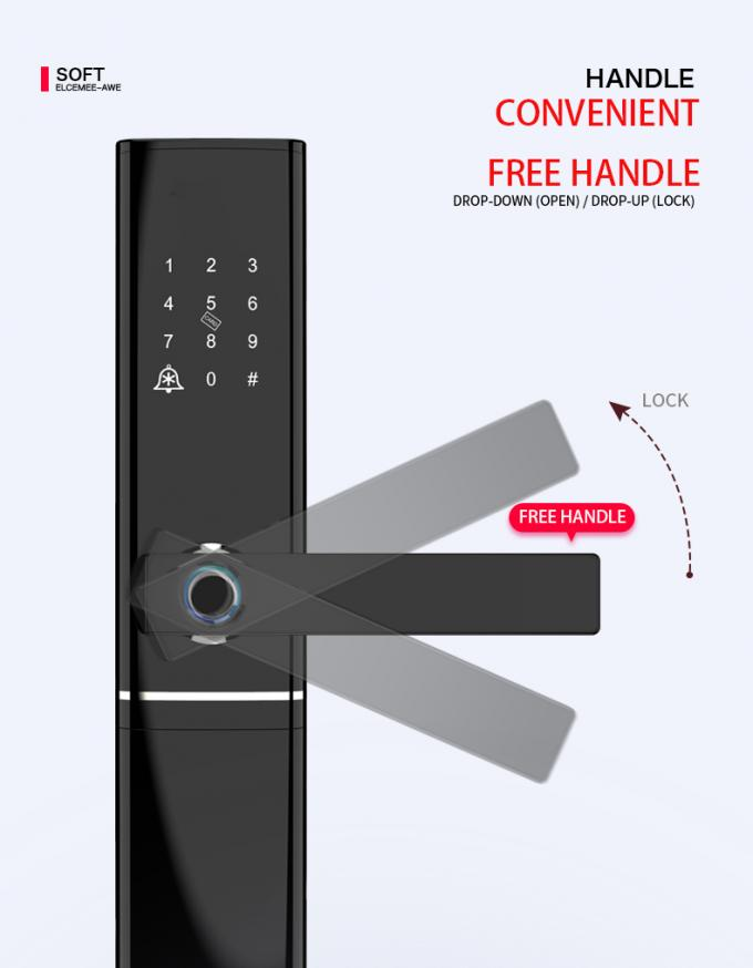 Smart Fingerprint Enabled Keyless Magnetic Door Lock With CE FCC ROHS Certifictation