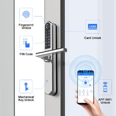 Smart Slim Fingerprint Thumbprint Bluetooth Control Stainless Steel Digital Door Lock