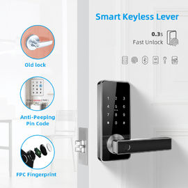 Residential Electronic Door Locks , Wifi Digital Safe Touch Screen Finger Print Latch Door Knob Lock