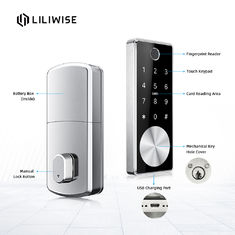Smart Door Locks Bluetooth Remote Control Digital Fingerprint With Automatic Electronic Deadbolt