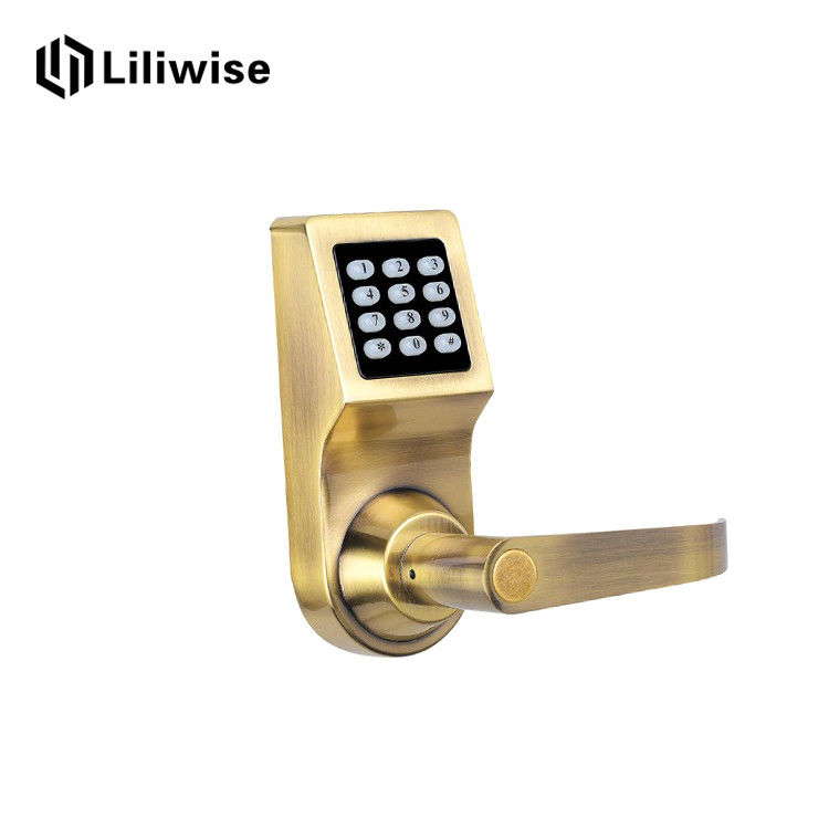 China Classical Electronic Door Lock With Remote Control , Card Code Combination  Door Lock Supplier