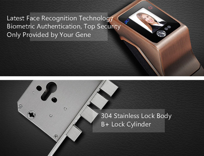 Biometric Smart Face Recognition Door Lock Infrared Non - Touch Info - Collect Way