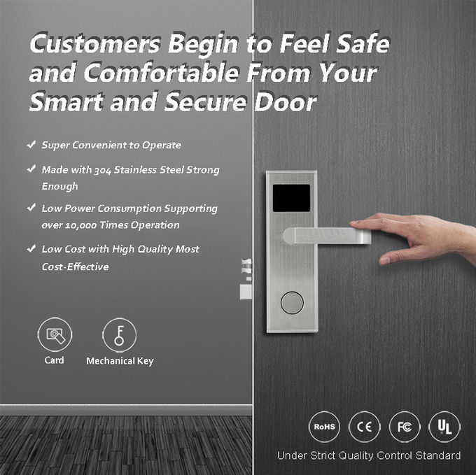 Wholesale High Quality Smart Digital Electronic RFID Hotel Lock With Free System