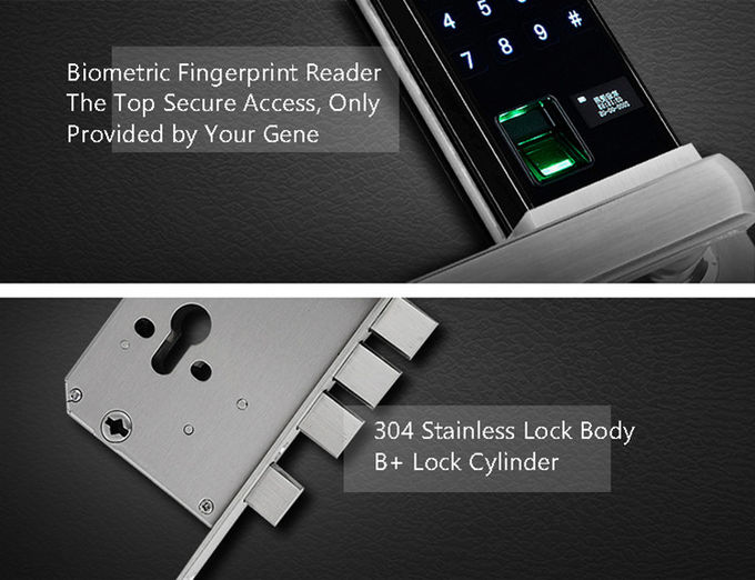 Residential Security Electronic Door Locks Digital Latch Sliding With Key