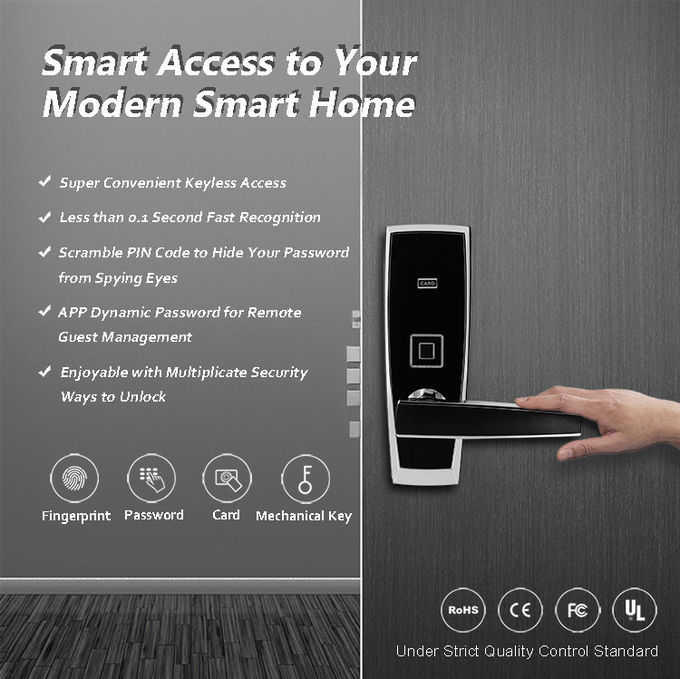 Electronic Keypad Door Lock , Digital Keyless Entry Door Lock With Card