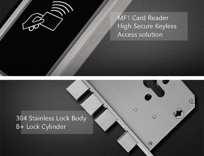 RFID Smart Key Card Lock Stainless Steel Long Battery Life