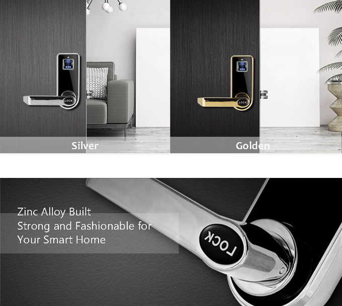 Multi Color Keyless Biometric Fingerprint Door Lock Quick Recognition