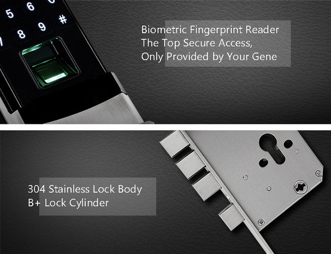 Fingerprint Automatic Door Lock Semiconductor Sensor High Strength Zinc Alloy