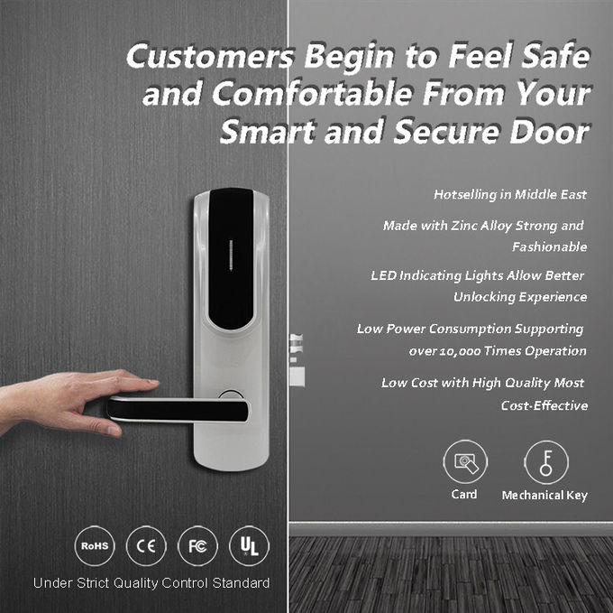 Electronic Keyless Front Door Lock , Modern Smart Front Door Combination Lock