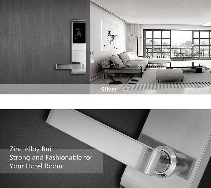 Zinc Alloy Rfid Hotel Door Locks , Modern Smart Card Reader Door Lock