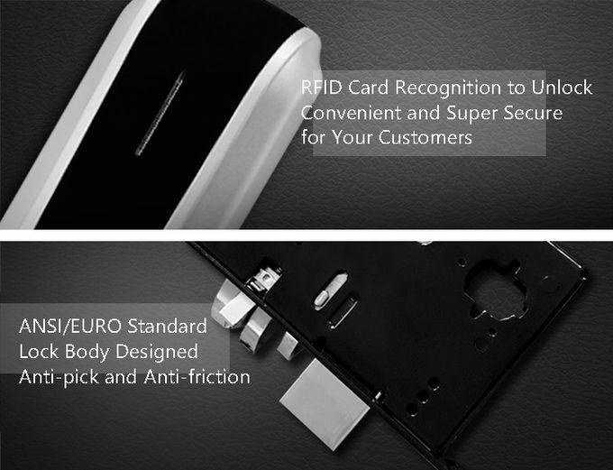Smart Home Thumbprint Door Lock , Digital Hotel Electronic