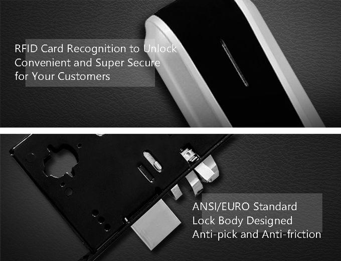 Hotel Biometric Fingerprint Door Lock , Card Access Door