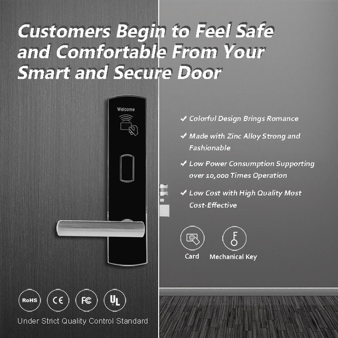 NFC Card Other Door Lock Remote Control Hotel Security For Hotel Office