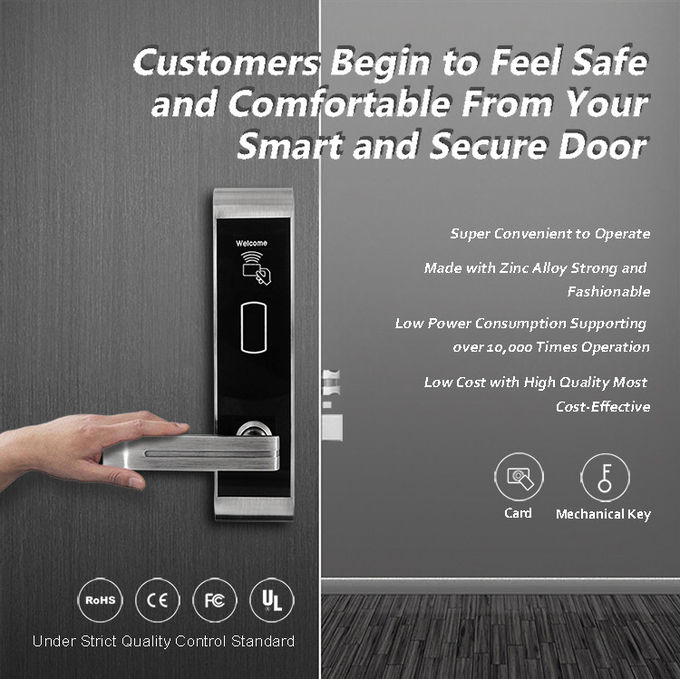 Custom Electronic Entry Door Locks NFC Card Reader For Hotel