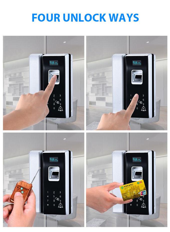 Office Glass Biometric Fingerprint Door Lock Remote